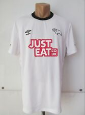 Derby County 2014/2015 Home Football Shirt Soccer Jersey England Umbro White (L)