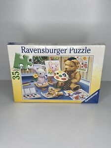 NEW Ravensburger Germany Children Kids 35 Pc Jigsaw Puzzle Teddy the Painter