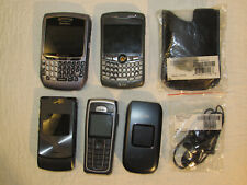 LOT OF 5 VINTAGE CELL PHONES V3XX RAZR BLACKBERRY NOKIA 62301 PANTECH MORE