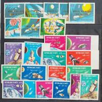 HAITI 1969/71 SPACE, XF Perf + ImPerf MNH** Sets, Apollo 12 Travel, Espace