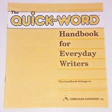 NEW Quick-Word Handbook for Everyday Writers Spelling Writing Grade 3 4 5 6 7 8+