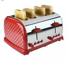 * Kitchen Originals Kalorik Classic Polka Dot Red/Chrome 4 Slice Toaster 62:8
