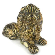 La Vie Safari African Lion Figurine Patchwork Wild Animal Print Decorative Decor