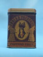 Vintage Indian Princess Popping Corn Decorative Tin