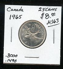 1965 Canada 25 Cents GEM UNC AB175