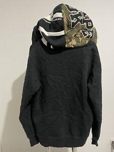 Aape By A Bathing Ape Full Zip Hooded Jacket Size L BAPE Black Camo Hood