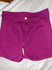 lululemon pink shorts size 8