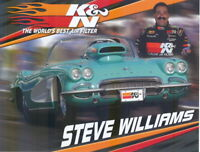 2006 Steve Williams K&N Filters Chevy Corvette Super Gas NHRA postcard