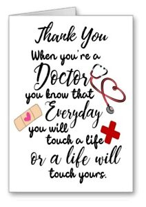 Thankyou Thank You Dr Doctor Card Touch A Life Quote All Cards 3 for 2