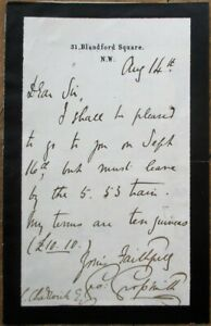 GEORGE GROSSMITH 1880 Autograph/Signed-Letter/ALS Comedian/Singer/Actor/Composer