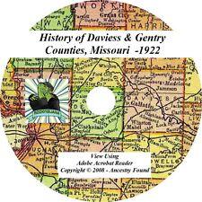 1922 History of DAVIESS & GENTRY County Missouri MO