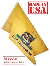 IRREGULAR - 3'x5' Gadsden Flag DONT TREAD ON ME Nylon Grommets (2nd_935Gadsden)