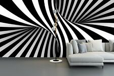 3D Black and white Zebra Abstract Pattern Living Room Wallpaper Wall Mural Decor