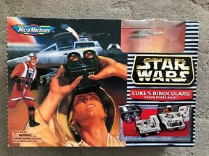 Star Wars Micro Machines LUKE'S BINOCULARS/YAVIN BASE Set Galoob In Box