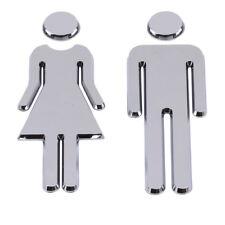 Door Wall Sign Decor Accessories Wc Stickers Women Tools Abs Creative Bathroom