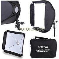 "FOTGA Softbox For SpeedLight Flash Speedlite Soft box Kit 60x60cm 24""x24"" White"