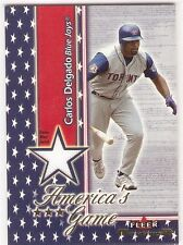 CARLOS DELGADO JERSEY 2002 FLEER MAXIMUM AMERICA'S GAME TORONTO BLUE JAYS METS