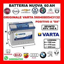 BATTERIA 60AH VARTA NUOVA ALFA 145-147-155-156-159-164-1750-2000-75-90 DAL 1967