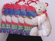 "Christmas Gift Bags Die Cut, ""Bearing Gifts"" Design, Set Of 5 Same Design"