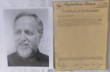 David L. Wolper signed photo