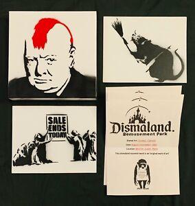 Banksy Original Dismaland Paintings 2015 With COA