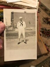 WWII Sailor Real Photo Postcard RPPC Navy Man in Spats NEAT NR!
