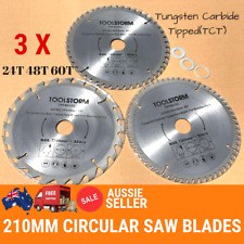 *3PC Circular Saw Blades 210mm 24T,48T,60Teeth 30MM BORE With 3 Reduction TCT