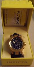 Invicta Chronograph S1 Mens Watch 1510 Blue Dial Swiss Made