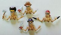 Vintage Lot of Pirate Finger Puppets / Pencil Toppers Rubber Cute Lot of 4