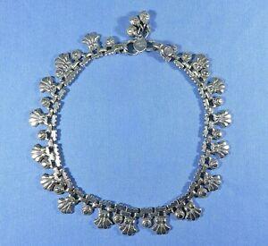 Vintage Silver Hand Made Belly Dancer's Ankle Chain Link Bracelet