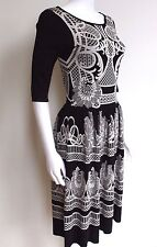 Temperley London Knit Lace Intarsia Dress S