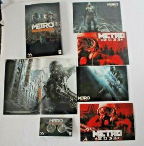Metro Redux Pre-Order Promotional Ranger Cache Bonus Pins Art Cards Poster