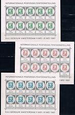Holanda. Serie en 3 Hojas Bloque de 10 sellos Nuevos MNH. Valor 120 Euros
