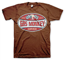 Gas Monkey Garage Since 2004 Label Fast N Loud Männer Men T-Shirt Braun Brown