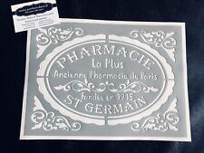 Pochoir Adhésif Réutilisable 30 x 20 cm Médaillon Pharmacie Ancienne Stylisé