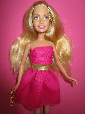B6-barbie Hannah Montana mattel 2007 negro-vestido dorado + rosa zapatos planos