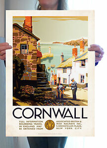 Vintage Travel Poster - Cornwall Lobster Pot - A2