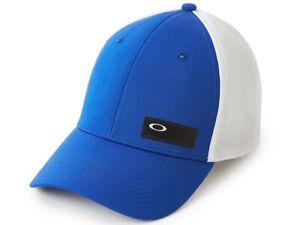 Oakley Men's Macca Blue/White Cap - L/XL A Flex Stretch Fit - Excellent Quality