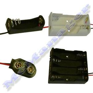 1/2/3/4/6/8/x AA/AAA/23A/9V Battery Holder/Snap On Connector/Enclosed Box/Switch