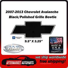 2007-2013 Chevy Avalanche Black Polished Billet Bowtie Grille Emblem AMI 96293KP