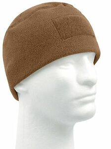 Winter Tactical Polar Fleece Watch Cap Ski Hat w/ Front Patch Area Rothco 8760