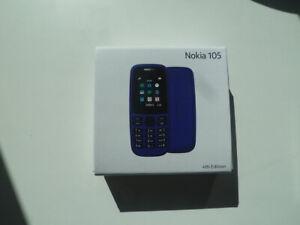 NEW - NOKIA 105 basic mobile phone UNLOCKED sealed