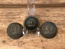 Lot Of 3 Wwi Imperial German Military Army Uniform Buttons