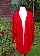 RED Wool Blend KIMONO Sweater Jacket/Coat - Vintage THE LIMITED Size M