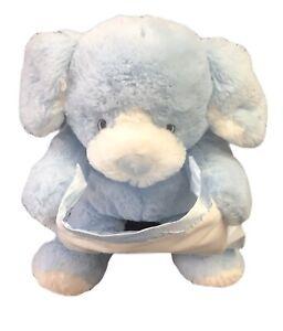 GUND Peek-a-Boo Talking Blue Puppy Dog Plush Excellent Condition