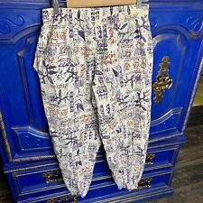 Vintage International BAGGYZ Parachute Pants Small MC HAMMER Graffiti Print