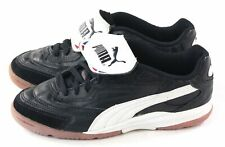 Puma Rare Cell Mens Cup Indoor Cleat Shoe Black White Blue Leather Size 6 US