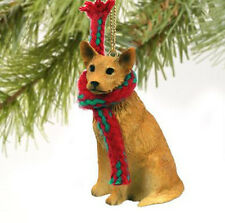 AUSTRALIAN CATTLE DOG RED BROWN CHRISTMAS ORNAMENT HOLIDAY Figurine Scarf gift