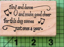 Sing and Dance Saying rubber stamp by Stampa Rosa 1994