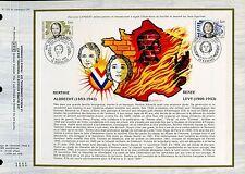 DOCUMENT CEF PREMIER JOUR 1983  TIMBRE N° 2293 RENEE LEVY BERTHIE ALBRECHT